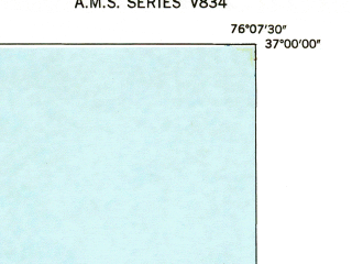 Reduced fragment of topographic map en--usgs--024k--025945--(1948)--N037-00-00_W076-15-00--N036-52-30_W076-07-30
