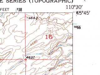 Reduced fragment of topographic map en--usgs--024k--026124--(1951)--N045-45-00_W110-37-30--N045-37-30_W110-30-00; towns and cities Livingston
