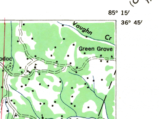 Reduced fragment of topographic map en--usgs--024k--026127--(1944)--N036-30-00_W085-22-30--N036-22-30_W085-15-00; towns and cities Livingston