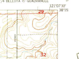 Reduced fragment of topographic map en--usgs--024k--026181--(1953)--N038-15-00_W121-15-00--N038-07-30_W121-07-30; towns and cities Lockeford