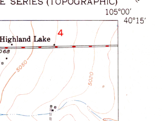 Reduced fragment of topographic map en--usgs--024k--026514--(1951)--N040-15-00_W105-07-30--N040-07-30_W105-00-00; towns and cities Longmont
