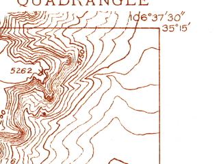 Reduced fragment of topographic map en--usgs--024k--026628--(1934)--N035-15-00_W106-45-00--N035-07-30_W106-37-30; towns and cities Paradise Hills, Los Ranchos De Albuquerque
