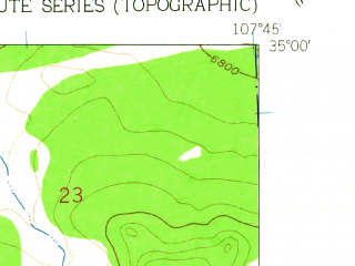 Reduced fragment of topographic map en--usgs--024k--026635--(1961)--N035-00-00_W107-52-30--N034-52-30_W107-45-00