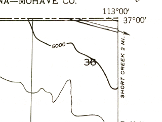 Reduced fragment of topographic map en--usgs--024k--026676--(1956)--N037-00-00_W113-07-30--N036-52-30_W113-00-00