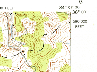 Reduced fragment of topographic map en--usgs--024k--026754--(1941)--N036-00-00_W084-15-00--N035-52-30_W084-07-30