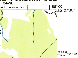 Reduced fragment of topographic map en--usgs--024k--026834--(1936)--N035-07-30_W088-07-30--N035-00-00_W088-00-00