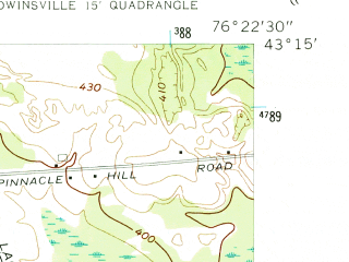 Reduced fragment of topographic map en--usgs--024k--027079--(1955)--N043-15-00_W076-30-00--N043-07-30_W076-22-30