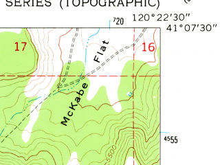 Reduced fragment of topographic map en--usgs--024k--027164--(1962)--N041-07-30_W120-30-00--N041-00-00_W120-22-30
