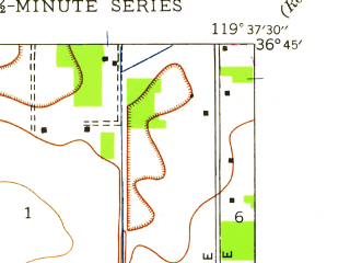 Reduced fragment of topographic map en--usgs--024k--027316--(1946)--N036-45-00_W119-45-00--N036-37-30_W119-37-30