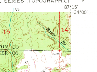 Reduced fragment of topographic map en--usgs--024k--027421--(1949)--N034-00-00_W087-22-30--N033-52-30_W087-15-00