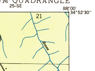 Reduced fragment of topographic map en--usgs--024k--027671--(1936)--N034-52-30_W088-07-30--N034-45-00_W088-00-00