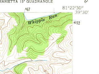 Reduced fragment of topographic map en--usgs--024k--027695--(1957)--N039-30-00_W081-30-00--N039-22-30_W081-22-30; towns and cities Marietta, Devola, Williamstown
