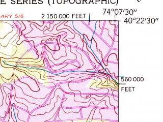Reduced fragment of topographic map en--usgs--024k--027767--(1954)--N040-22-30_W074-15-00--N040-15-00_W074-07-30; towns and cities East Freehold