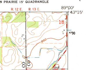 Reduced fragment of topographic map en--usgs--024k--027830--(1962)--N043-15-00_W089-07-30--N043-07-30_W089-00-00; towns and cities Marshall