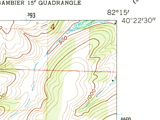 Reduced fragment of topographic map en--usgs--024k--027895--(1961)--N040-22-30_W082-22-30--N040-15-00_W082-15-00; towns and cities Martinsburg