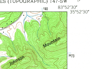 Reduced fragment of topographic map en--usgs--024k--027929--(1953)--N035-52-30_W084-00-00--N035-45-00_W083-52-30; towns and cities Eagleton Village, Alcoa, Rockford