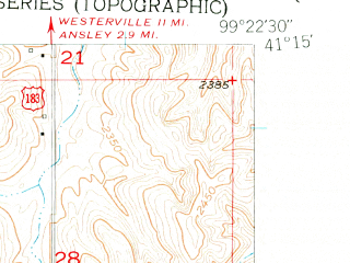 Reduced fragment of topographic map en--usgs--024k--027954--(1951)--N041-15-00_W099-30-00--N041-07-30_W099-22-30