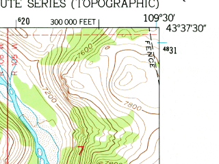 Reduced fragment of topographic map en--usgs--024k--027958--(1956)--N043-37-30_W109-37-30--N043-30-00_W109-30-00