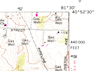 Reduced fragment of topographic map en--usgs--024k--027979--(1961)--N040-52-30_W081-37-30--N040-45-00_W081-30-00; towns and cities Massillon