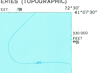 Reduced fragment of topographic map en--usgs--024k--028030--(1956)--N041-07-30_W072-37-30--N041-00-00_W072-30-00; towns and cities Mattituck