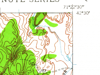 Reduced fragment of topographic map en--usgs--024k--028148--(1950)--N042-30-00_W071-30-00--N042-22-30_W071-22-30; towns and cities Maynard, West Concord
