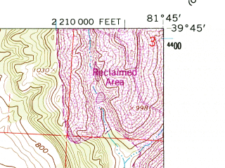 Reduced fragment of topographic map en--usgs--024k--028282--(1961)--N039-45-00_W081-52-30--N039-37-30_W081-45-00; towns and cities Malta, Mcconnelsville