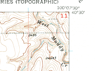 Reduced fragment of topographic map en--usgs--024k--028657--(1956)--N040-30-00_W100-15-00--N040-22-30_W100-07-30