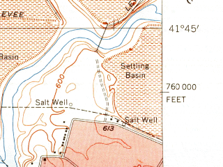 Reduced fragment of topographic map en--usgs--024k--028801--(1953)--N041-45-00_W081-22-30--N041-37-30_W081-15-00; towns and cities Mentor, Mentor-on-the-lake, Fairport Harbor, Grand River, Kirtland Hills