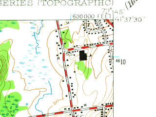 Reduced fragment of topographic map en--usgs--024k--028835--(1955)--N041-37-30_W072-52-30--N041-30-00_W072-45-00; towns and cities Meriden