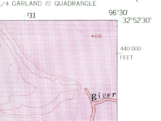 Reduced fragment of topographic map en--usgs--024k--028948--(1959)--N032-52-30_W096-37-30--N032-45-00_W096-30-00; towns and cities Mesquite, Sunnyvale