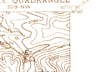 Reduced fragment of topographic map en--usgs--024k--029036--(1934)--N036-00-00_W082-15-00--N035-52-30_W082-07-30