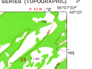 Reduced fragment of topographic map en--usgs--024k--029089--(1962)--N048-30-00_W096-15-00--N048-22-30_W096-07-30; towns and cities Middle River