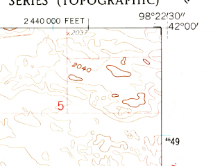 Reduced fragment of topographic map en--usgs--024k--029200--(1960)--N042-00-00_W098-30-00--N041-52-30_W098-22-30