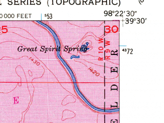 Reduced fragment of topographic map en--usgs--024k--029285--(1953)--N039-30-00_W098-30-00--N039-22-30_W098-22-30