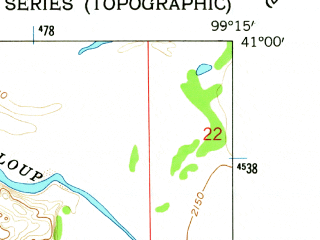 Reduced fragment of topographic map en--usgs--024k--029338--(1962)--N041-00-00_W099-22-30--N040-52-30_W099-15-00