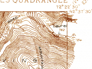 Reduced fragment of topographic map en--usgs--024k--029349--(1936)--N042-37-30_W072-30-00--N042-30-00_W072-22-30; towns and cities Millers Falls