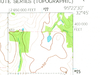 Reduced fragment of topographic map en--usgs--024k--029496--(1960)--N032-45-00_W095-30-00--N032-37-30_W095-22-30; towns and cities Mineola