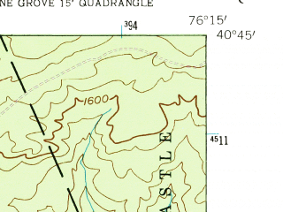 Reduced fragment of topographic map en--usgs--024k--029533--(1955)--N040-45-00_W076-22-30--N040-37-30_W076-15-00; towns and cities Minersville