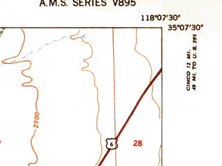 Reduced fragment of topographic map en--usgs--024k--029773--(1947)--N035-07-30_W118-15-00--N035-00-00_W118-07-30; towns and cities Mojave
