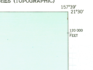 Reduced fragment of topographic map en--usgs--024k--029778--(1952)--N021-30-00_W157-46-30--N021-22-30_W157-38-60; towns and cities Kailua, Kaneohe Station