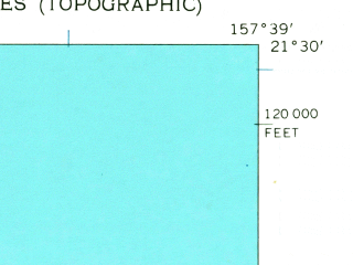 Reduced fragment of topographic map en--usgs--024k--029778--(1959)--N021-30-00_W157-46-30--N021-22-30_W157-38-60; towns and cities Kailua, Kaneohe Station