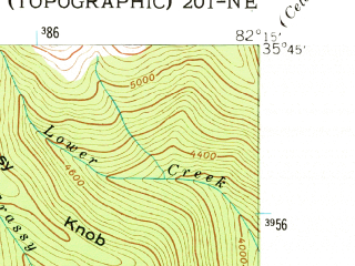 Reduced fragment of topographic map en--usgs--024k--030012--(1942)--N035-45-00_W082-22-30--N035-37-30_W082-15-00; towns and cities Montreat
