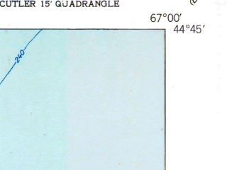 Reduced fragment of topographic map en--usgs--024k--030157--(1951)--N044-45-00_W067-07-30--N044-37-30_W067-00-00 in area of Moose Cove
