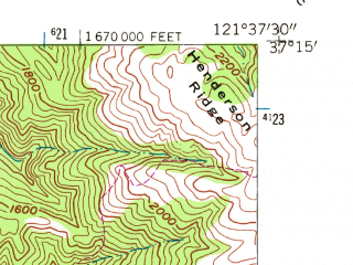 Reduced fragment of topographic map en--usgs--024k--030217--(1955)--N037-15-00_W121-45-00--N037-07-30_W121-37-30; towns and cities Morgan Hill