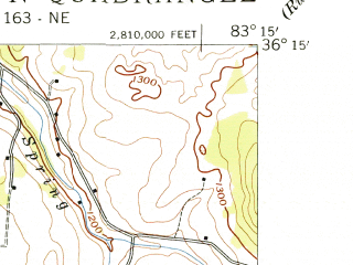 Reduced fragment of topographic map en--usgs--024k--030305--(1939)--N036-15-00_W083-22-30--N036-07-30_W083-15-00; towns and cities Morristown