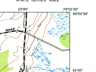 Reduced fragment of topographic map en--usgs--024k--030309--(1947)--N040-52-30_W074-30-00--N040-45-00_W074-22-30; towns and cities Parsippany-troy Hills Township, Hanover Township, Madison, Morristown, Florham Park