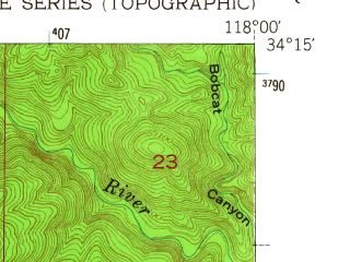 Reduced fragment of topographic map en--usgs--024k--030903--(1953)--N034-15-00_W118-07-30--N034-07-30_W118-00-00; towns and cities Arcadia, Sierra Madre, East Pasadena