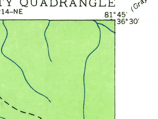 Reduced fragment of topographic map en--usgs--024k--030922--(1935)--N036-30-00_W081-52-30--N036-22-30_W081-45-00; towns and cities Mountain City