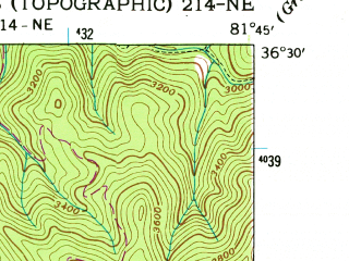 Reduced fragment of topographic map en--usgs--024k--030922--(1938)--N036-30-00_W081-52-30--N036-22-30_W081-45-00; towns and cities Mountain City