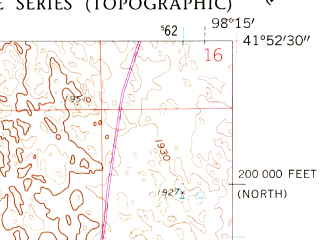 Reduced fragment of topographic map en--usgs--024k--031002--(1960)--N041-52-30_W098-22-30--N041-45-00_W098-15-00